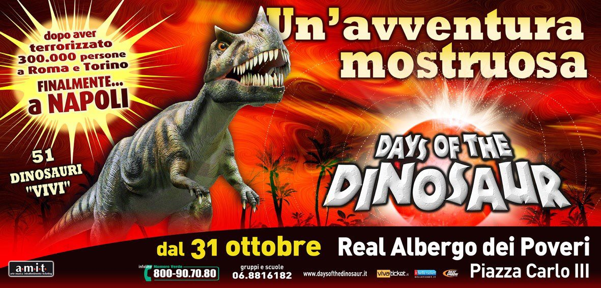 days of the dinosaur a napoli