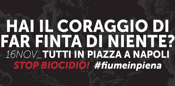 stop biocidio #stopbiocidio #fiumeinpiena